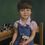 Clara Platte, olieverf op doek, Liesbeth van Keulen