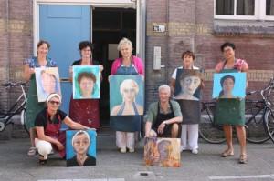 Resultaten van Cursus Portret Intensief Basis 2010. Portretschilder Liesbeth van Keulen, Portretschool Amsterdam