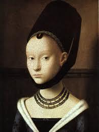 Portret van een jong meisje, Petrus Christus, circa 1470