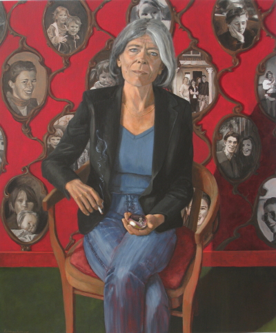 Anna Enquist door Liesbeth van Keulen. Letterkundig Museum Den Haag. Portretschilder Liesbeth van Keulen, Portretschool Amsterdam